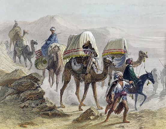 Arab trade caravan